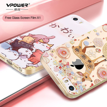 Vpower For iPhone 5s se Case covers Luxury Transparent Soft TPU 3D Relief cat flower Print Phone case For iphone 5 5s SE(China)