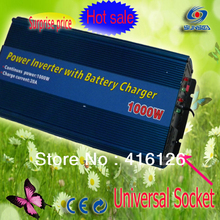1000watts High Power 12V DC  to 220V AC  Car Inverter ,Car Converter with 12V Battery Charger 20A Power Inverters