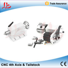 CNC Tailstock and Rotary Axis, A Axis, 4th Axis, CNC Router Engraver Milling Machine