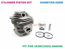 Cylinder Piston kit for MITSUBISH TL33 Brush Cutter.Grass Trimmer.Lawn Mower.Tiller .Gasoline Engine Garden Tools Spare Parts