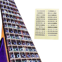 Convenient Guitar Neck Fretboard Note Map Fret Sticker Decals Learn Fingerboard