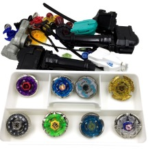 Metal Master Rapidity Fight Super String Rare Beyblade 4 Dspin top with Launcher Grip spare parts with box beyblade set