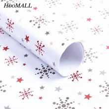Hoomall 10PCs 51x72cm Gift Wrapping Paper For Birthday Party Wedding Christmas Decorations Gifts Packaging New Year Supplies(China)