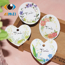 50 a price Han edition color pastoral style flower thanks thanks to heart-shaped oval decoration tags listed(China)