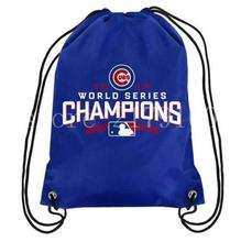 35*45 cm knitted polyester baseball champion team Chicago Cubs drawstring backpack with digital printed Metal Grommets