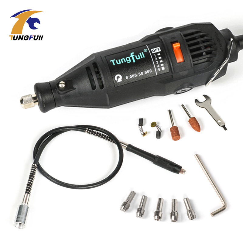 Dremel Style MultiPro Drill Carving Pen Soft Shaft Accessories,Top-level Grill Kits Goggles with Drill Chuck sets,US to EU Plug<br>