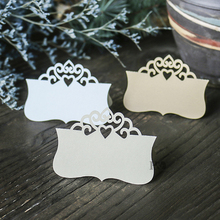 H&D 120pcs/set Personalized Color Laser Cut Wedding Table Place Card Name Card Wedding Party Table Decoration Crown Design(China)