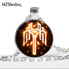 HZ--A63 2017 New Glass Dome Necklace Dragon age Necklace Kirkwall Symbol Crest Jewelry Necklace Glass Cabochon Necklace HZ1(China)