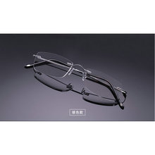 MINCL/Super light Silver. gold  Light Flexible Memory Titanium Rimless Reading Glasses 1.0-4.0 lxl