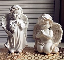 Garden ornaments handmade small angel  kneeling & standing pray angel resin decorative crafts arts modern home decor