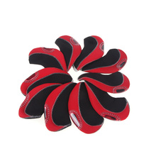 Set of 10 Red Neoprene Golf Club Head Cover Wedge Iron Protective Headcovers(China)