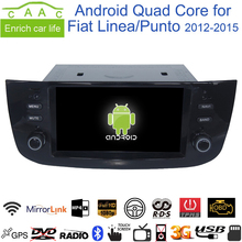 "Android 6.0.1 Quad Core GPS Navi Stereo 6.2"" Car DVD Multimedia for Fiat Linea/Punto 2012-15 with Radio/Bluetooth/RDS/Canbus/SWC"