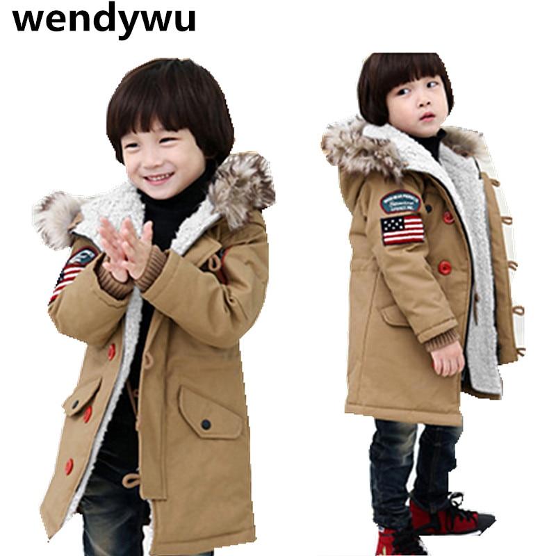 Hot winter new children plus thick velvet padded jacket boy child cotton outerwear long coat British styleОдежда и ак�е��уары<br><br><br>Aliexpress
