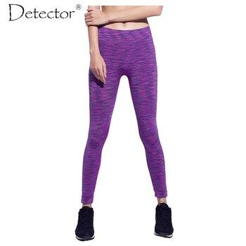 Detector de la mujer pantalones de yoga de fitness femenino liner mallas para correr deportes legging gimnasio encuadre de cuerpo entero ropa deportiva