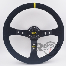 350mm/14inch Deep Dish Black Spoke Racing Steering wheel / Suede Steering Wheel / OMP Steering Wheel(China)