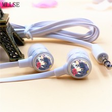 MLLSE Anime Takanashi Rikka Cartoon In-ear Earphones 3.5mm Stereo Earbuds Phone Music Game Headset for Iphone Samsung MP3 MP4