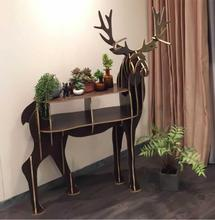 Christmas European Creative deer Side Table Nordic style home furnishing decoration hotel restaurant bar decor free shipping(China)