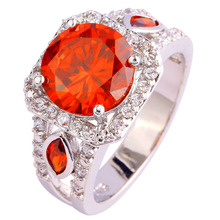 AAA CZ Crystal Factory Direct Jewelry Red Garnet Plated Silver Fashion Ring Size 7 8 9 10Free Shipping Wholesale