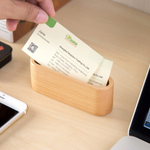 Wooden storage box office desktop ornaments creative minimalist card case business card holder(China)