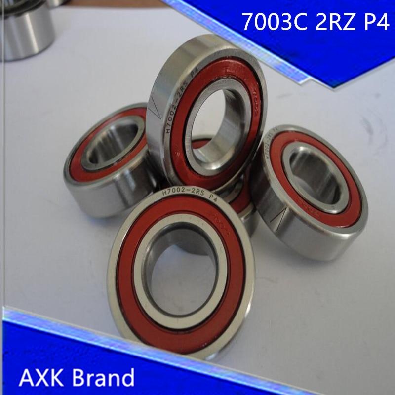 1pcs 7003 7003C 2RZ P4 17x35x10 AXK Sealed Angular Contact Bearings Speed Spindle Bearings CNC ABEC-7<br><br>Aliexpress