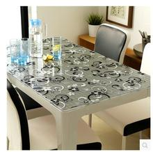 PVC Table Cloth Soft Glass Waterproof And Oil Proof Transparent Disposable Placemats Custom Desk Pad Disposable Tablecloths Mat