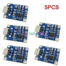 5PCS/LOT TP4056 1A Rechargeable Charging Board Charger Module Lithium Battery Plates MICRO USB Interface