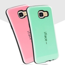 Candy Color Korea Style Shock Absorbing iFace case 2 in 1 TPU+PC Hard Case Silicone Cover for samsung galaxy A310 A510 A710 2016(China)
