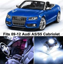 Free Shipping 4Pcs/Lot car-styling LED Lights Interior Package Kit for Audi A5 S5 Cabriolet 8F7