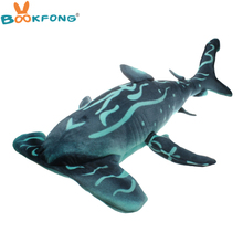 BOOKFONG 100CM Giant Hammerhead Shark Plush Toy Lifelike Shark Toy Soft Stuffed Animal High Quality Children Gift Shop Decor