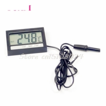 In Out LCD Dual-Way Digital Car Thermometer & Clock ST2 #S018Y# High Quality
