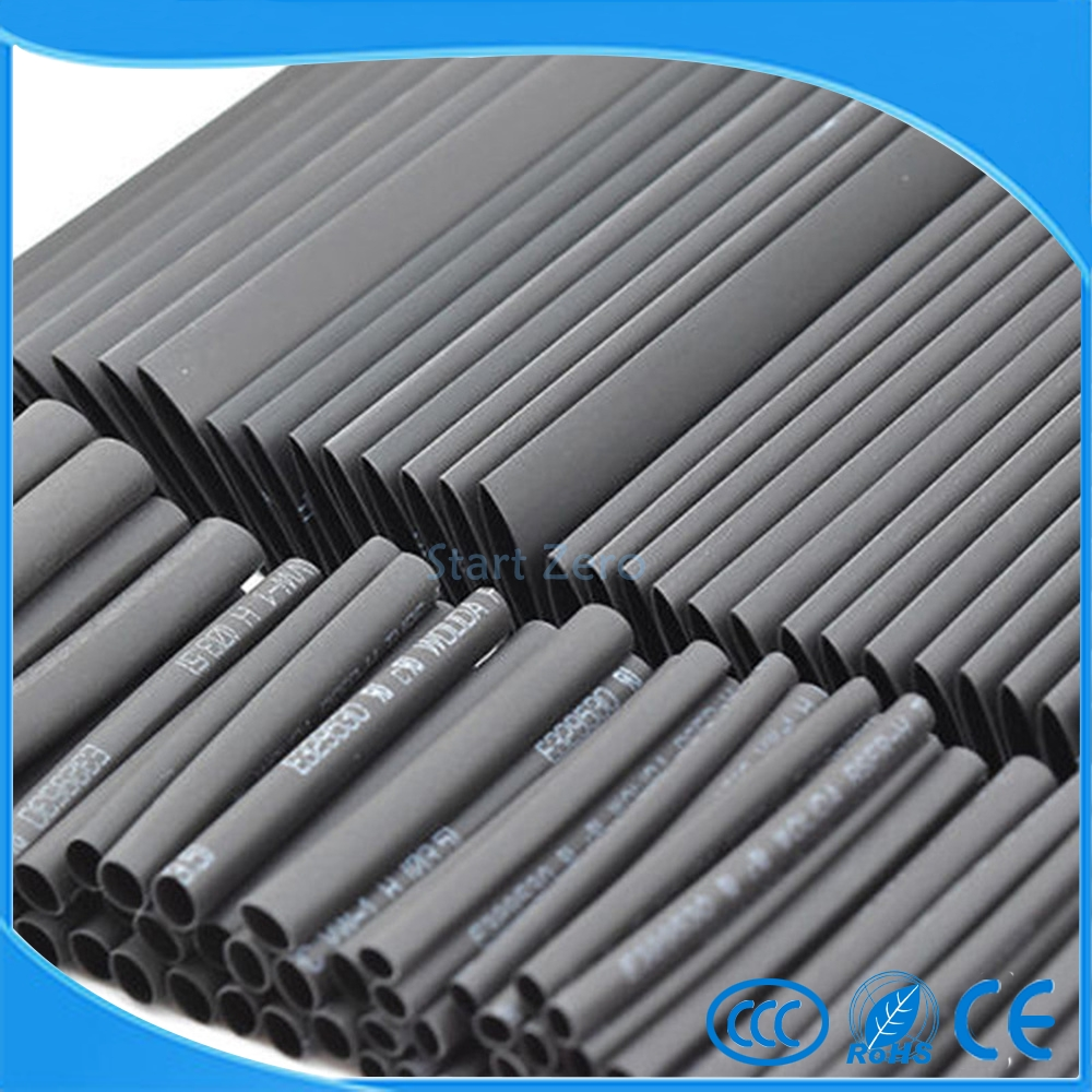 127x Heat Shrink Tubing Shrinkable Tube Assortment Kit Sleeving Wrap Wire 2:1 US