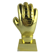 23cm Height Soccer Football Resin Goalkeeper Gloves De Golden Award World Cup Trophy Goalkeeper Award Fans Souvenirs World Cup(China)