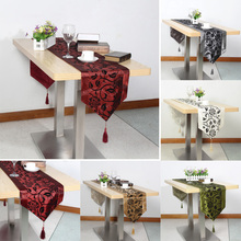 200*32cm Simple Embroidery Cloth Damask Table Runner Cloth Wedding Decor Home Table Cloth(China)