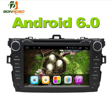 HD 8inch 2 Din Android 6.0 Car Video DVD Player Corolla 2007-2011 Quad Core 1024 600 Radio Rds GPS Navigation WIFI Touch Screen*