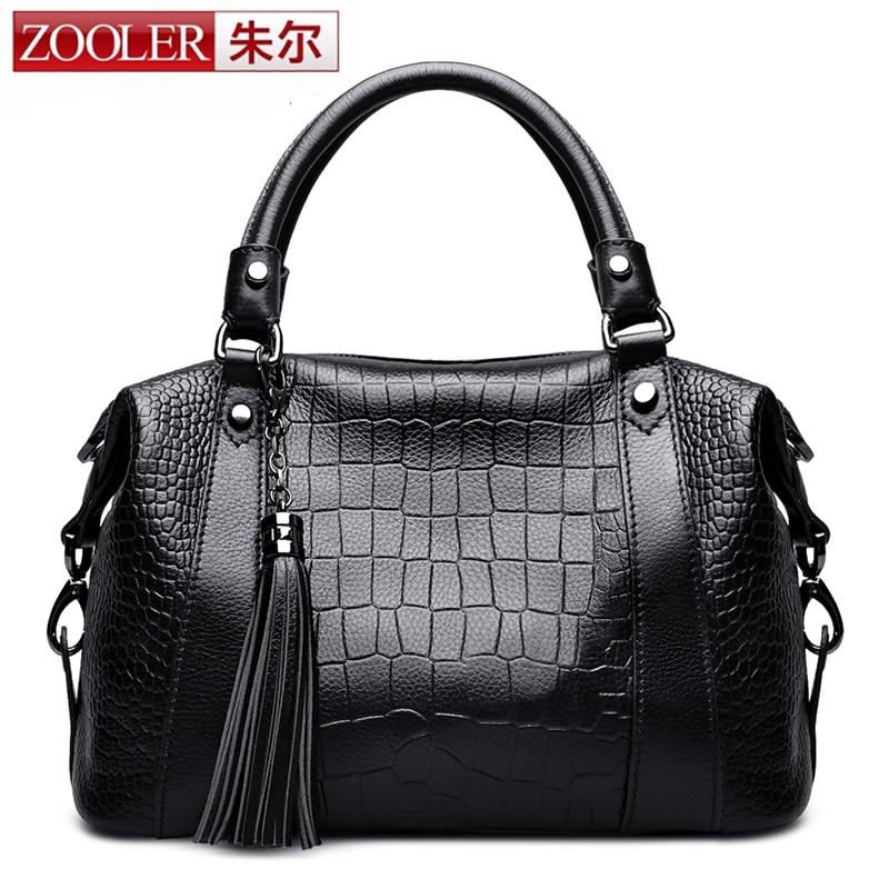 Guarrenteened 100% cowhide women bag ZOOLER 2016 brands top handle bag leather shoulder bags bolsa feminina#2652<br><br>Aliexpress