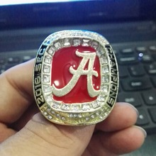 Cost Price High Quality 2016 Alabama Crimson Tide SEC Football Championship Ring Size 9 to 13(China)