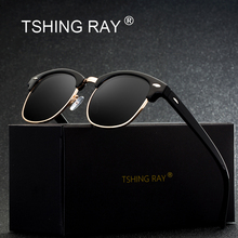 TSHING RAY Classic Half Frame Polarized Sunglasses Men Women Brand Designer G15 Coating Mirror Sun Glasses For Female(China)