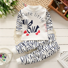 In Stock! Baby Animal Clothing Sets, Boys zebra cotton clothes boys cute cheap wear soft kids clothes RETAIL a17