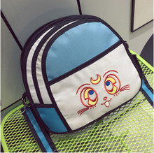 2017 New Fashion 2D Bags Novelty Back To School Bag 3D Drawing Cartoon Comic Handbag Lady Shoulder Bag Messenger All-match Gifts