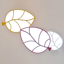 Modern Creative LED Leaf Ceiling Lamp Simple Acrylic Light Study Children's Room Bedroom Lighting Fixture Christmas Gift CL169(China)