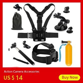 SHOOT for GoPro Accessories Set Chest Head Strap Cycling Tripod Mount for GoPro Hero 5 6 4 SJCAM SJ4000 Xiaomi Yi 4K h9 Camera