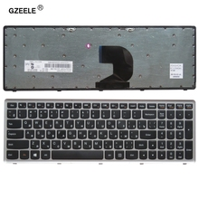 Russian laptop keyboard for LENOVO Z500 Z500A Z500G series  RU layout with silver frame notebook replace laptop Keyboard new