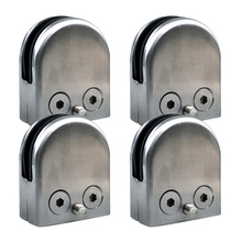 Promotion! 4X Stainless Steel Glass Clamp Holder For Window Balustrade Handrail 52*43*24 mm