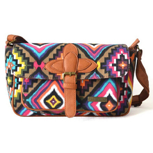 Bag again best seller women fashion bag lady ethnic style printing shoulder bag