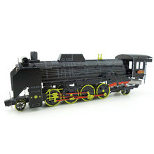 Colorful Japan Locomotive D51 Car Styling Fun 3d Metal Diy Miniature Model Kits Puzzle Toys Children Educational Boy Splicing