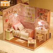 CUTE ROOM Sunshine Angel Handmade Doll Miniature Furniture DIY Doll house Wooden Toys For Children Grownups Birthday Gift H-002