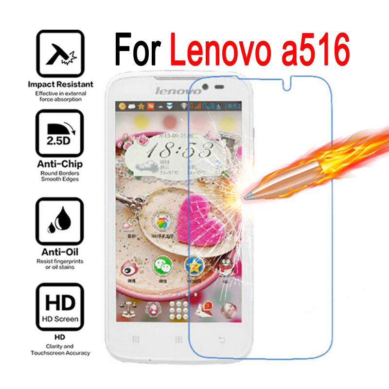 2pcs Lenovo A516 A378T Tempered glass Cover Screen Protector case Lenovo 516 378T Moblie phon protective film caes