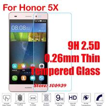 New Anti-Explosion Cheap 9H 2.5D 0.26mm Phone Accessories Cell Glass Screen Protector For Huawei Honor 5X GR5 X5 GR 5