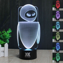 HUI YUAN Creative gift Robot 3D night light USB led table wai net household adornment bedroom reading night light