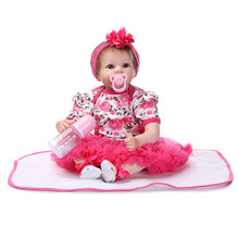 Cute Fahion Reborn Baby Doll 55cm 22 Inch Baby Reborn Doll baby cute baby gift house hot toys popular in Europe United States